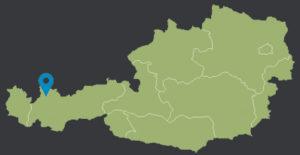 Position Forchach Landkarte Österreich