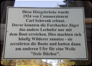 Geschichte der Forchacher Hängebrücke