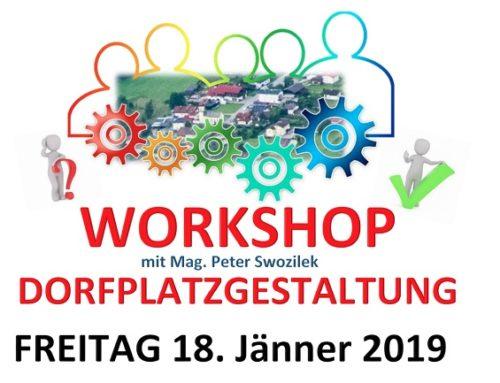 Einladung zum Workshop Dorfplatzgestaltung