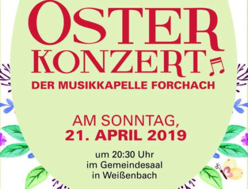 Osterkonzert der Musikkapelle Forchach