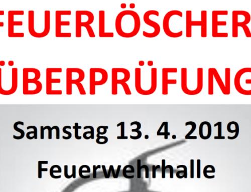 Feuerlöscher-Überprüfung 2019